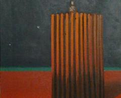 Andrés Rábago. ara0042. El vigía..Óleo sobre lienzo.46 x 38.2011