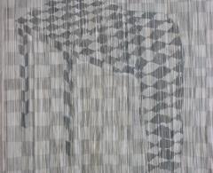 Concha García - cga0014 - Partida de ajedrez. Aguada sobre papel manipulado. 112 x 76. 2006