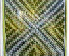 Eduardo Sanz - es0008 - Blanco y Amarillo.Espejo y Vidrio.100 x 100.1974
