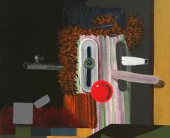Gorka Mohamed - gm0002  -Thraumatrope. Acrílico sobre lienzo. 50 x 50. 2009