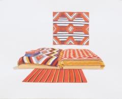 TM0141 - Teresa Moro - D. Judd. Cama navajo. Marfa. Gouache sobre papel. 28,5 x 38,5. 2018