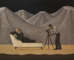 Alberto Gálvez. ag0112. Man Ray y Lee Miller. Óleo sobre lienzo. 73 x 92. 2006