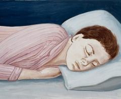 Alberto Gálvez. ag0133. Pereza adormecida II. Óleo sobre lienzo. 33 x 52. 2007