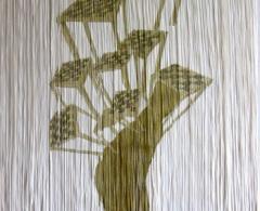 Concha García - cga0012 - Estrategias. Acuarela sobre papel manipulado. 112 x 76. 2006