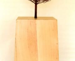 Daniel R. Martín - drm0023 - Esencia. Roble Palustre Hierro patinado y madera. 165 x 56 x 56. 2006