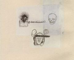 ear0004 - EDUARDO ARROYO. Sin título.Collage. 35 x 25. 2013
