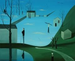 EGS0800 - Emilio González Sáinz. Azul cielo. Óleo sobre lienzo. 54 x 65. 2016