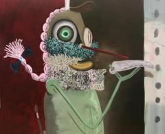 Gorka Mohamed - gm0017 - I\'m a painter. Acrílico sobre lienzo. 200 x 200. 2009