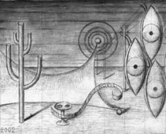 Guillermo Pérez-Villalta - Vistavisión. 2002. Técnica mixta sobre madera. 22 x 40 cm