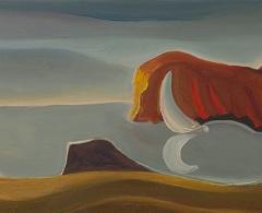 JM0432 - José Luis Mazarío. Ensenada. 2019. Óleo sobre tabla. 20 x 40 cm.