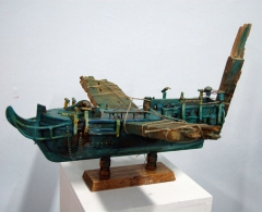 José Luis Serzo - jls0197 - Estudio de Blinky para barco volador.Técnica mixta.40 x 40 x 27. 2011