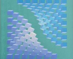MOB0012 -  MONIKA BUCH. Ref. 320. Acrílico sobre lienzo. 60 x 60. 1994