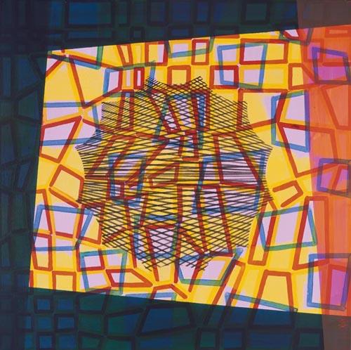 Xesús Vázquez -xv0048 - Lager LXII. Acrílico sobre lienzo. 100 x 100. 2005